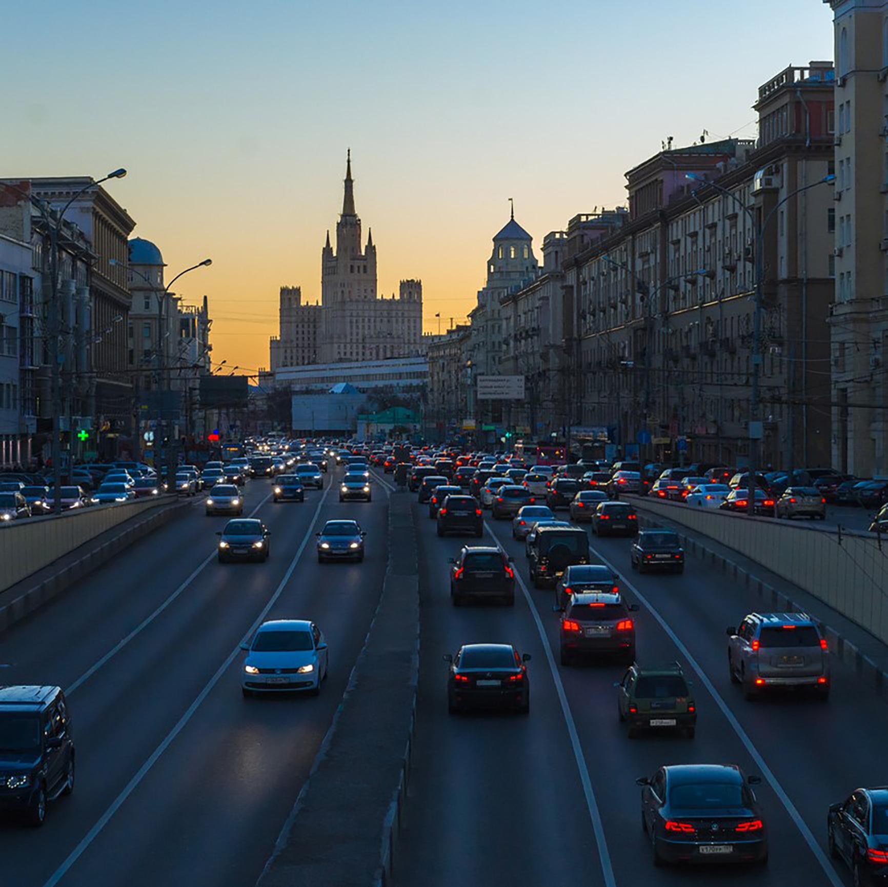 Скоростной режим на Садовом кольце в Москве